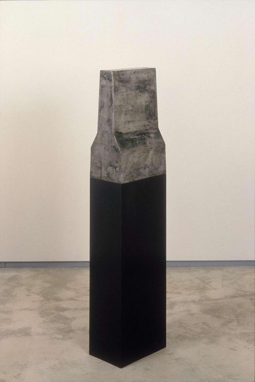 THE PROMISE | 122 x 46 x 30 cm | Cast Aluminium, Oak, Stain